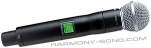 Location mat�riel sonorisation pour concert, spectacle : Location micro HF Shure UR4d+ SM58 HF ( micro sans fil )
