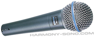 Location mat�riel sonorisation pour concert, spectacle : Location micro Shure Beta 58